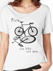Fixie - one bike one gear (black) Women's Relaxed Fit T-Shirt