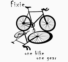 Fixie - one bike one gear (black) Long Sleeve T-Shirt
