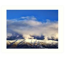 Winter Storm Over the Rockies Art Print
