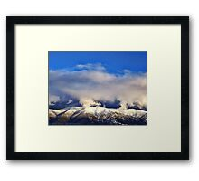 Winter Storm Over the Rockies Framed Print