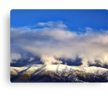 Winter Storm Over the Rockies Canvas Print