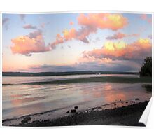 Evening on the Hudson River Poster
