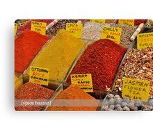 Spice Bazaar Canvas Print