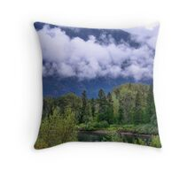 First Snow in the Flathead Throw Pillow