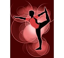 Super Smash Bros. Red Wii Fit Trainer (Male) Silhouette Photographic Print