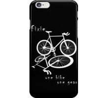 Fixie - one bike one gear (white) iPhone Case/Skin