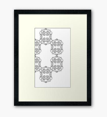 Clockwise Scrolls Framed Print