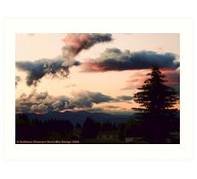 Big Mountain Evening Art Print