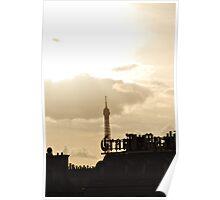 Eiffel Tower behind Grand Marnier, Paris Poster