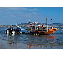 Bringing In The Lifeboat Photographic Print