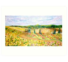 Blooming Fields Art Print