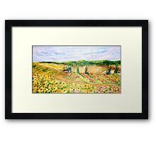 Blooming Fields Framed Print