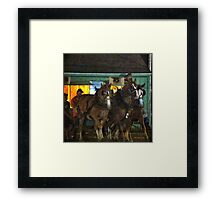 Heading into the Ring Framed Print