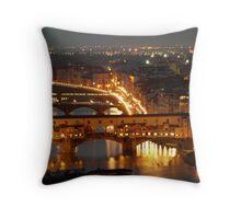 Firenze Ponte Vecchio Throw Pillow