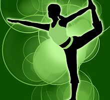 Super Smash Bros. Green Wii Fit Trainer (Female) Silhouette by jewlecho