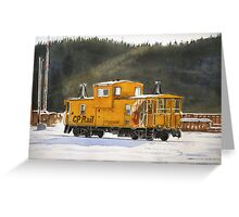 Caboose in Schreiber Greeting Card