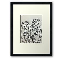 Crazy Daisey , sketch, from series Framed Print