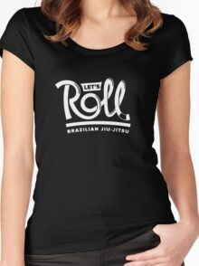Let's Roll Brazilian Jiu-Jitsu White Belt Women's Fitted Scoop T-Shirt