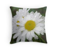 Daisy Diamonds Throw Pillow