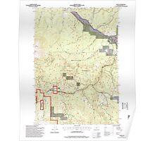 USGS Topo Map Oregon Bates 278952 1996 24000 Poster