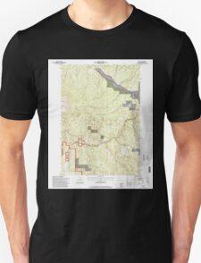 USGS Topo Map Oregon Bates 278952 1996 24000 T-Shirt