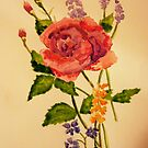 Watercolour Rose. by JacquiK