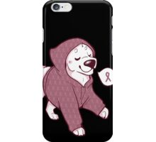 Breast Cancer Awareness Dog iPhone Case/Skin