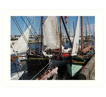 All rafted up Art Print