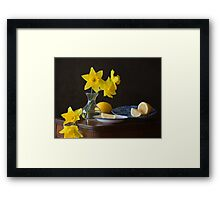 Daffodils and Lemons Framed Print