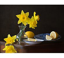 Daffodils and Lemons Photographic Print