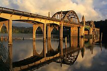 Suislaw River Bridge by Barbara  Brown