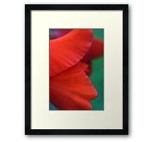 Red Factor Framed Print
