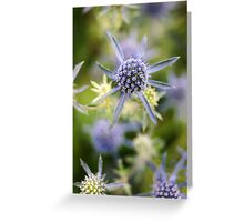 Blue Spike Greeting Card