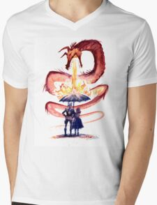 Water & Fire Mens V-Neck T-Shirt