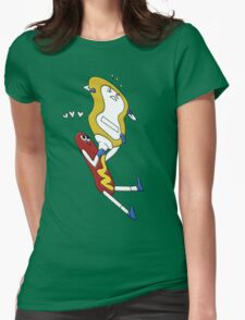 Hot Dog Love Womens Fitted T-Shirt