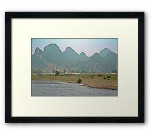 Along the Li River. Framed Print