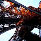 Eiffel Tower with a neon feel by jbbphotography