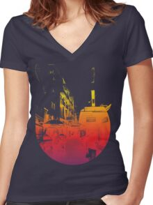 Street view Women's Fitted V-Neck T-Shirt