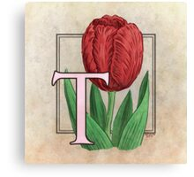 T is for Tulip Canvas Print