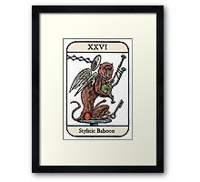 The Stylitic Baboon Framed Print