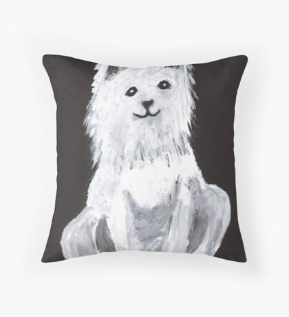 Furry Pet Throw Pillow