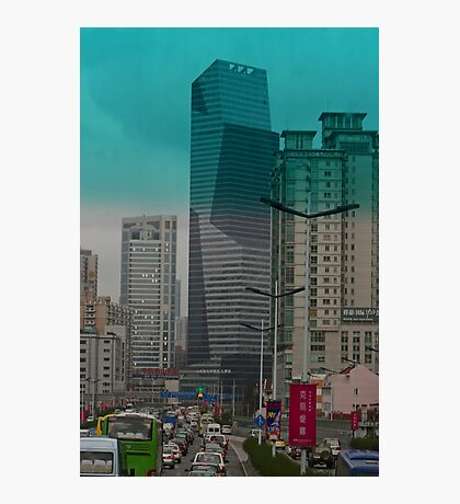 Gridlock in Shanghai Photographic Print