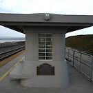 """Japanese Design Influence - Surf Beach Train Station"" by waddleudo"