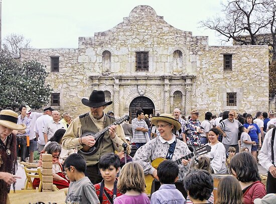 Entertaining the Crowd on Alamo Day by Susan Russell