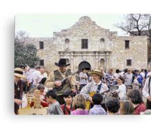 Entertaining the Crowd on Alamo Day Canvas Print