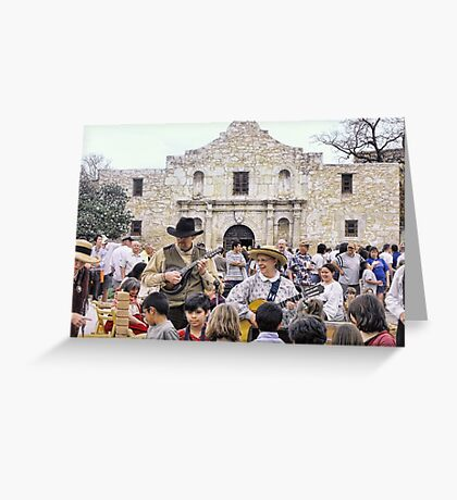 Entertaining the Crowd on Alamo Day Greeting Card