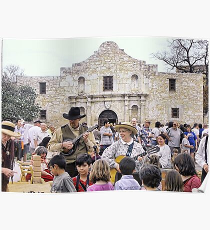 Entertaining the Crowd on Alamo Day Poster