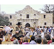 Entertaining the Crowd on Alamo Day Photographic Print