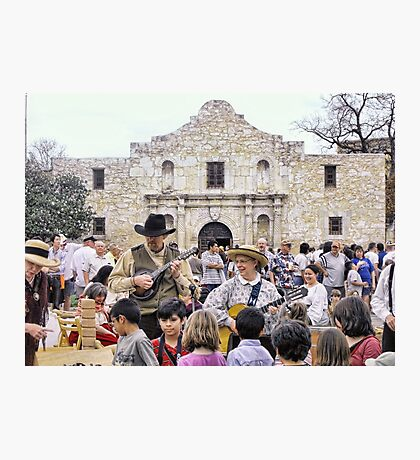 Entertaining the Crowd on Alamo Day Photographic Print