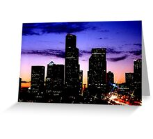 Seattle becomes a neon tapestry Greeting Card